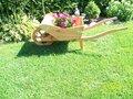 Houten kruiwagen/bloembak